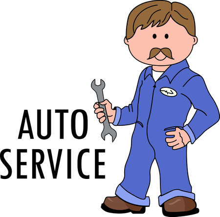 grease: You entrust your car to your mechanic.  This design is perfect for thanking them! They will love it! Illustration