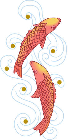 common carp: The koi is a symbol of a persons ability to have high expectations and for happiness.  This is a beautiful  design from Great Notion