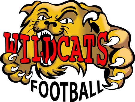 Show your team spirit with this Wildcats logo.  Everyone will love it. Ilustração