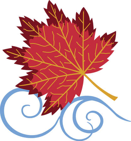 가을에 꾸미는 것이 너무 재미 있습니다. 당신의 디자인과 함께 바람에 가을 잎을 포함해야합니다. 반원들이 그것을 좋아할 것입니다! 스톡 콘텐츠 - 45057946