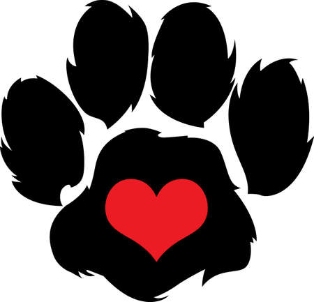 canine: Send your friends these cute paw prints! My dog walks all over me.  Its sure to bring a smile!