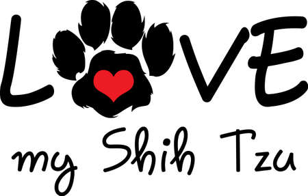 shih tzu: Send your friends these cute paw prints! My dog walks all over me.  Its sure to bring a smile!