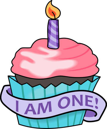 1st birthday: Give this cupcake for the 1st birthday party.  Grab these designs from Great Notions.