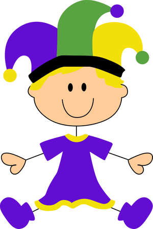 christian festival: Get ready for the Mardi Gras parties with this cute baby.   Illustration