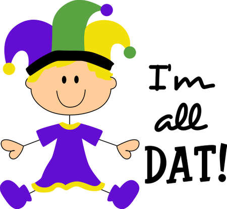 fat tuesday: Get ready for the Mardi Gras parties with this cute baby.    Illustration