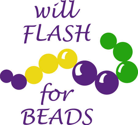 get ready: Get ready for the Mardi Gras parties with this necklace.