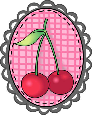 A beautiful country design of cherries are perfect for your kitchen.