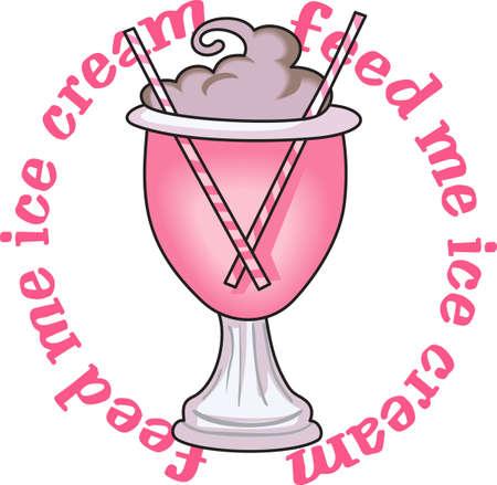 Top van je vrijdag ijscoupe met een kers. Het is een perfecte herinnering dat wanneer vrijdag aankomt is het tijd voor familie tijd te genieten van een ijsje sundae.