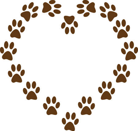 sure: Send your friends these cute paw prints for Valentines Day.  Its sure to bring a smile!