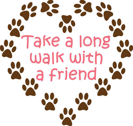 Send your friends these cute paw prints for Valentines Day.  Its sure to bring a smile!