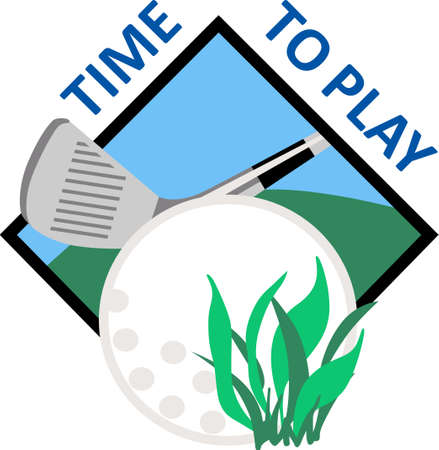 putt: Golf is a great past time sport to enjoy playing with a group or on your own.    Illustration