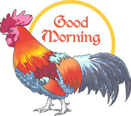 The rooster is a common kitchen design.  Add this design to yours.  Everyone will love your country decorations! Ilustracja