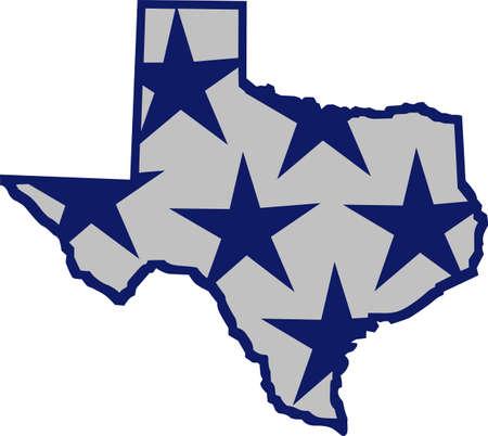 텍사스 스타는 텍사스 주 자랑스런 테마에 완벽한 추가품입니다. 일러스트