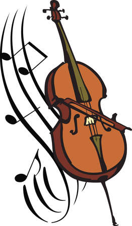 cellos: This cello design is perfect for your band student  Illustration
