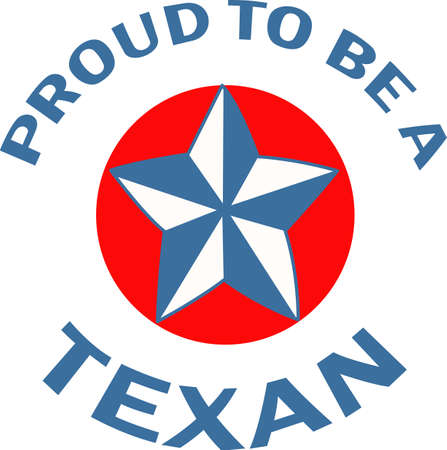 texan: Show your Texan pride with the Texas star.