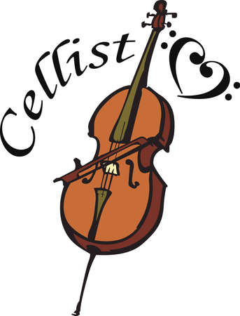 cellist: This cello design is perfect for your band student.