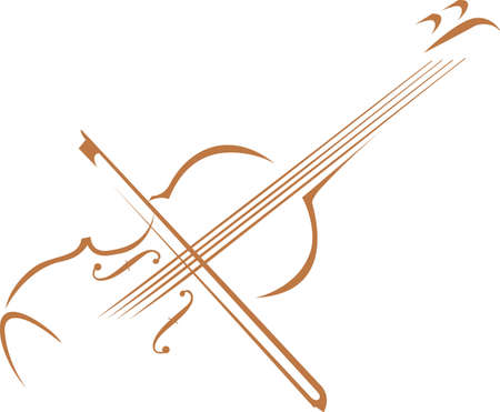 fiddles: This violin design is perfect for your band student.