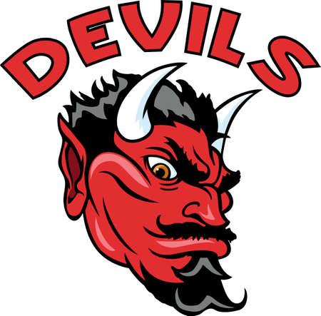 team spirit: Show your team spirit with this Devil  Illustration