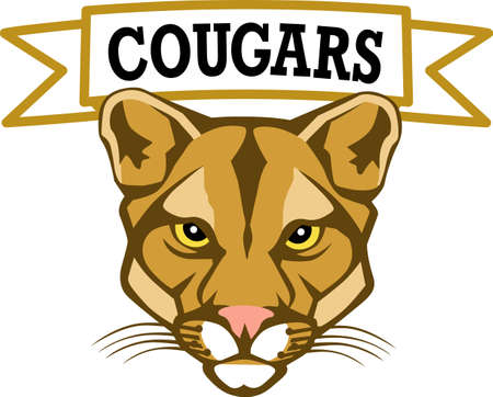 Show your team spirit with this Cougar  .  Everyone will love it!