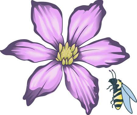 This beautiful bee shows a springtime design.   Çizim