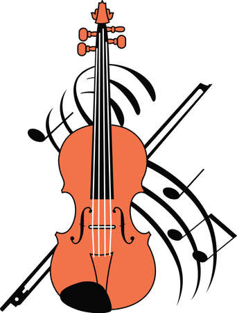 violins: This violin design is perfect for your band student