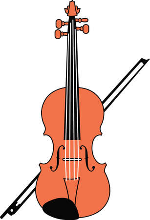 fiddles: This violin design is perfect for your band student