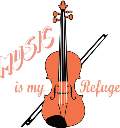 This violin design is perfect for your band student.