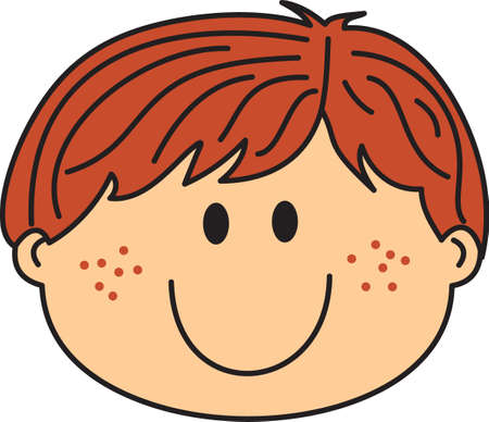 freckles: This cute cartoon boy is perfect to add to your designing fun.  A fun design by Great Notions. Illustration