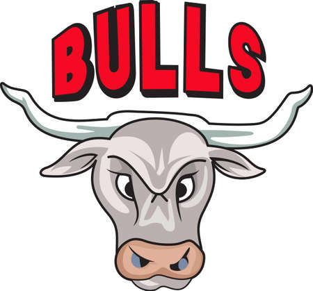 Show your team spirit with this Bull  .  Everyone will love it!