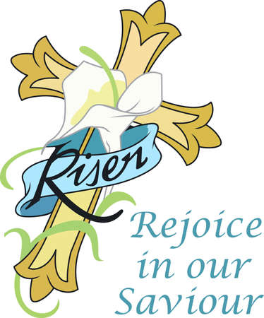 This beautiful Easter cross will be beautiful with your decorating.   Illustration