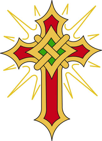 knotwork: This flaming cross is a perfect design for your church activities
