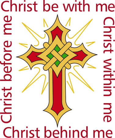 This flaming cross is a perfect design for your church activities