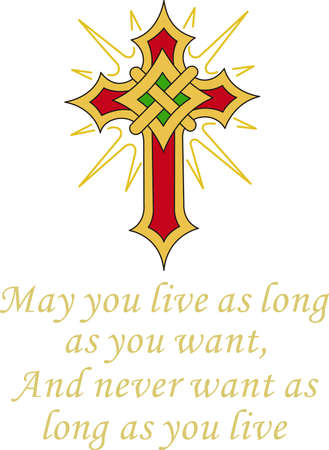 celtic symbol: This flaming cross is a perfect design for your church activities