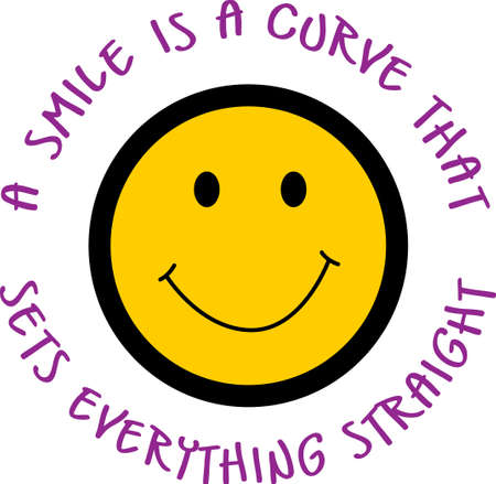 A smiley is a curve that sets everything straight.  Get these designs from Great Notions.