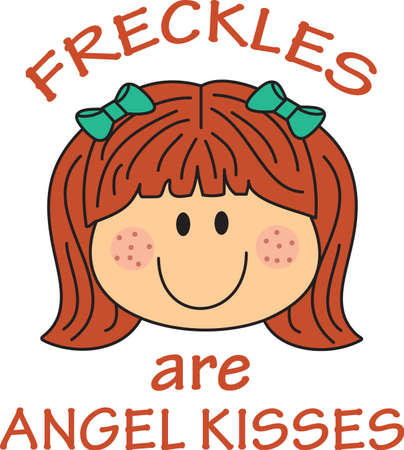 freckles: This cute cartoon girl is perfect to add to your designing fun.