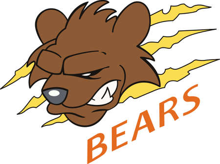 love is it: Show your team spirit with this Bear  .  Everyone will love it.
