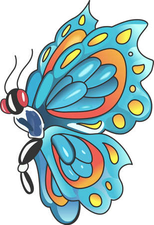 mariposa: This beautiful butterfly is perfect for your springtime design showing that nature is forever changing and evolving.   Illustration