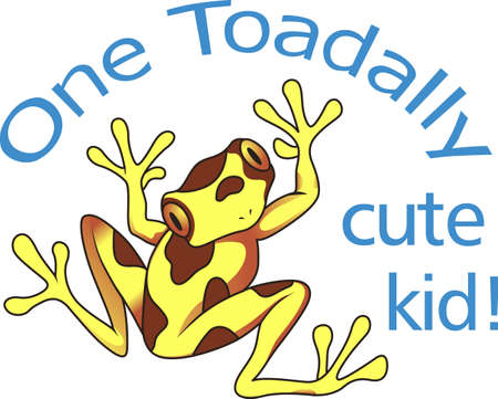 tree frogs: Give this adorable toad to the one you love!   Illustration