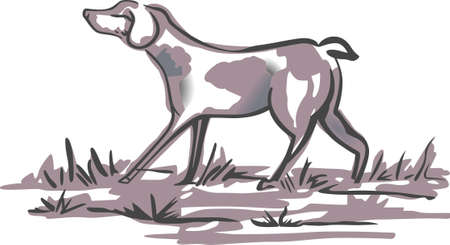 delftware: The country dog is perfect to add to your designs.   Illustration