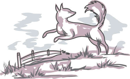 delftware: The country fox is perfect to add to your designs.