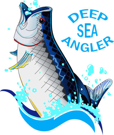 salt water fish: Dont forget this cute design when you go fishin.  This design is perfect to take with you when you go.  Everyone will love it.