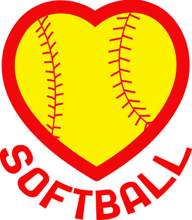 teamsport: You spend hours dreaming, practicing the sport and playing on the softball field.  Your softball player will love this!
