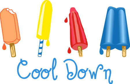 notions: Kids love a ice pop on a hot summer day.  Get these designs from Great Notions. Illustration