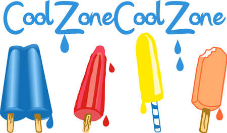 Kids love a ice pop on a hot summer day.  Get these designs from Great Notions. Stock Illustratie
