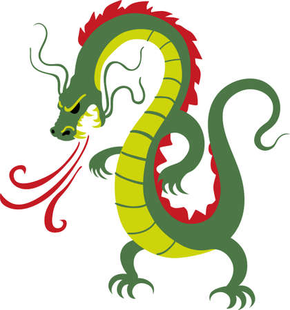 hydra: The year of the dragon is part of the Chinese heritage.  Add this really awesome design to a shirt or hat. Illustration