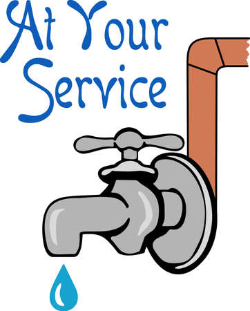 tradesperson: Its the perfect advertisement for your plumbing business.  Get these designs from Great Notions. Illustration