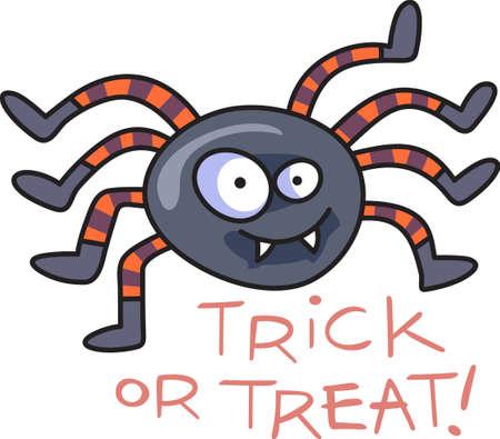 Cette araignée Halloween fantasmagorique mignon est un régal parfait. Donner à un enfant pour leur cadeau de Halloween. Ils vont adorer! Banque d'images - 45147565