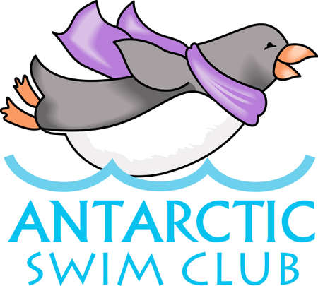 antarctic: This adorable little penguin is perfect for your decorating.   The students will love it! Illustration