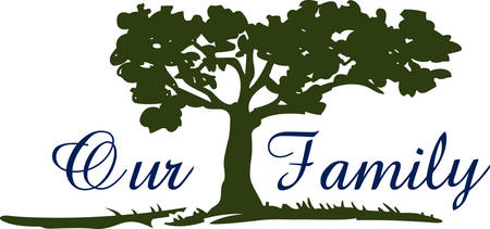 softwood: This beautiful image is perfect for the genealogist to display their family tree.   Illustration