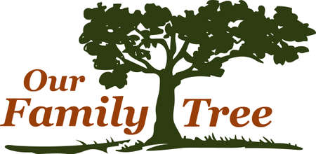 This beautiful image is perfect for the genealogist to display their family tree.   Ilustracja